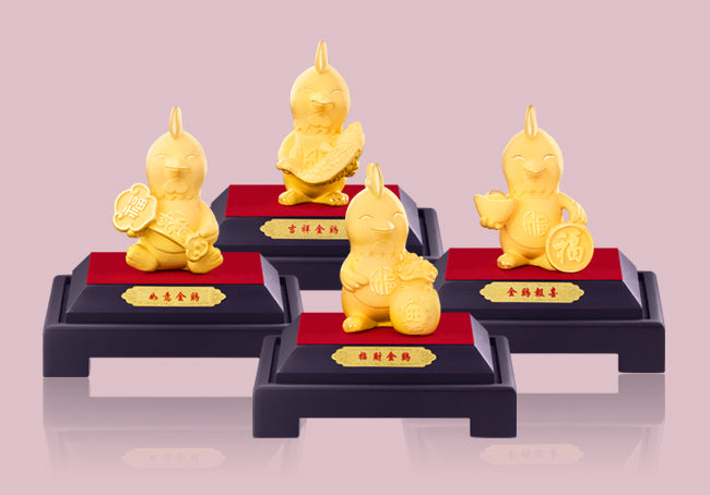 999 PURE GOLD PLATED CITI-CHICK FIGURINES