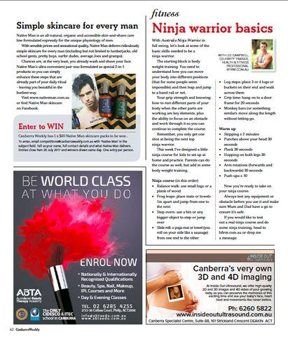 Canberra Weekly featuring Native Man skincare