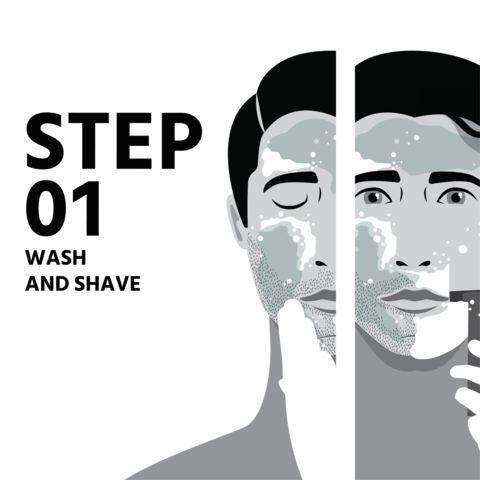 Simple routine for men's skincare step 1