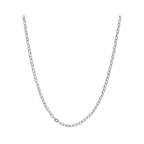 stainless steel link chain rolo necklace chain