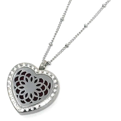 Passion Diffuser necklace with beaded rolo chain