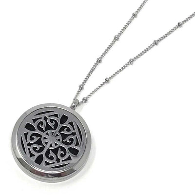 Power Diffuser Necklace with beaded rolo chain