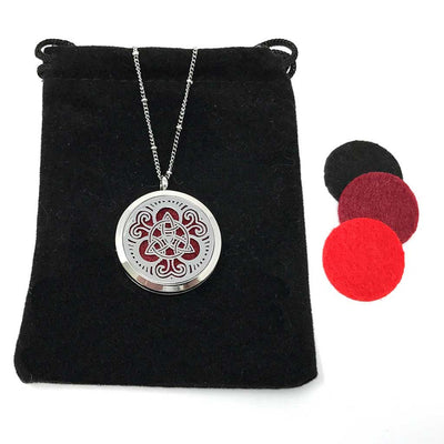 Guardian Diffuser necklace with velvet polishing pouch