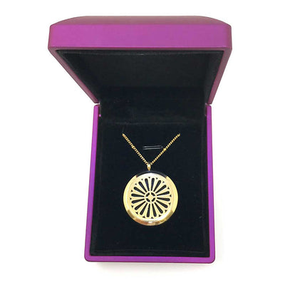 Happiness Diffuser Necklace with lighted jewelry box