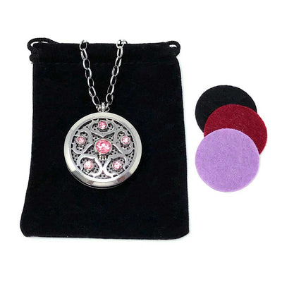 Goddess Diffuser Necklace with velvet polishing pouch