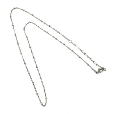 24 inch tarnish resistant beaded rolo stainless steel necklace chain
