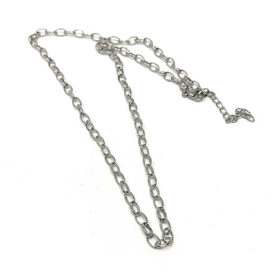 24 inch Chain Link Stainless Steel Necklace Chain with lobster clasp