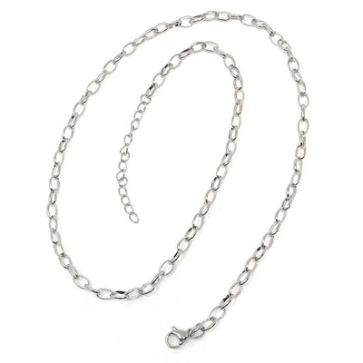 18 inch Chain Link Stainless Steel Necklace Chain with lobster clasp