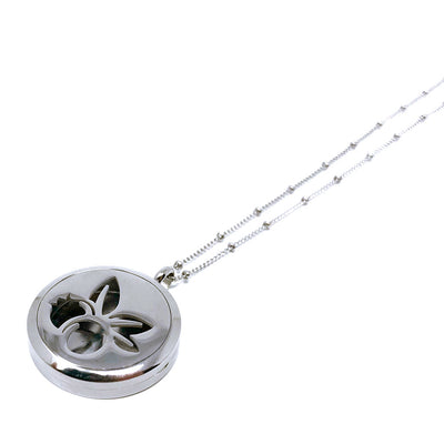 Wild Blueberry Diffuser necklace with stainless steel chain