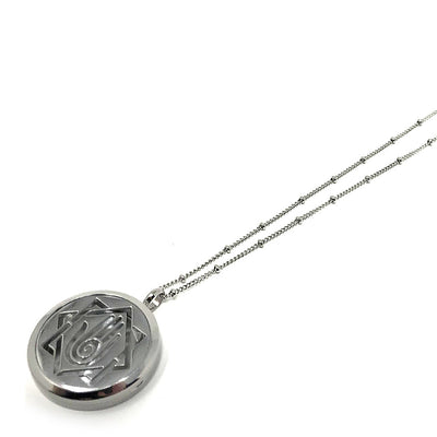 Palm Swirl Diffuser necklace with stainless steel chain