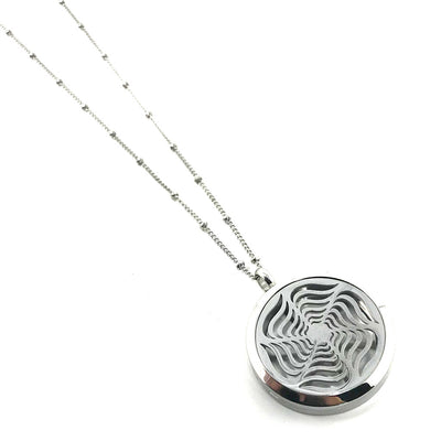 Radiant Star Diffuser Pendant with stainless steel chain