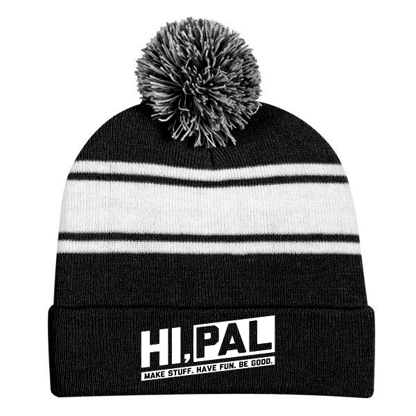 CLASSIC LOGO STRIPED BEANIE - CLEARANCE
