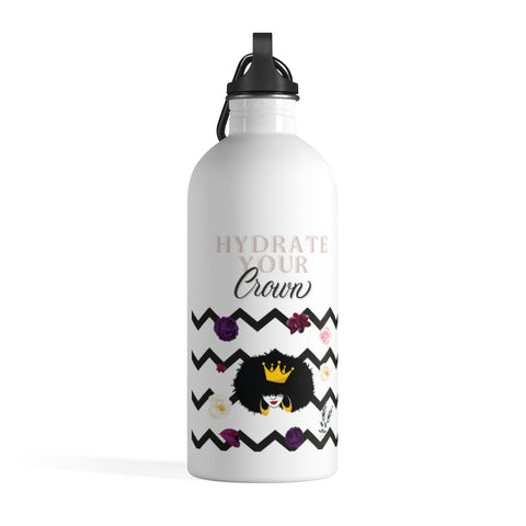 Hydrate Your Crown Poenies Stainless Steel Water Bottle