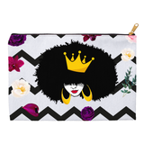 Crown Natural Floral Poenies Accessory Pouches