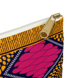 Pink and Gold Ankara Print Style Accessory Pouch