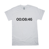 8mins and 46 sec Statement White Tee