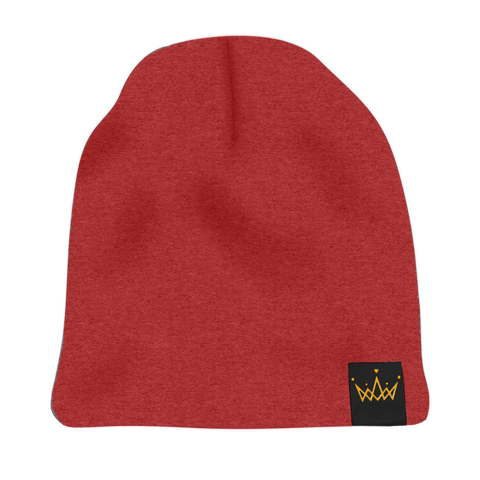 The Savage Crown Co. Satin-Lined Beanie Red