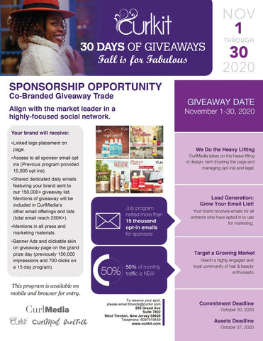 30 DAY GIVEAWAY PLACEMENT
