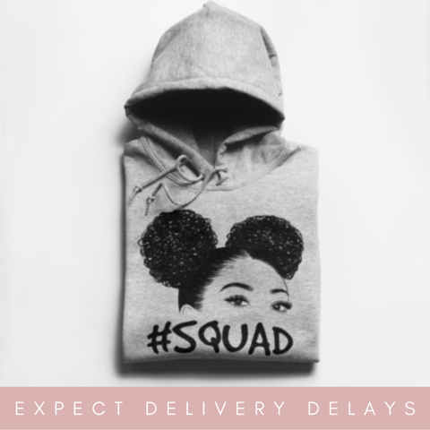 Natural afro SQUAD Hoodie