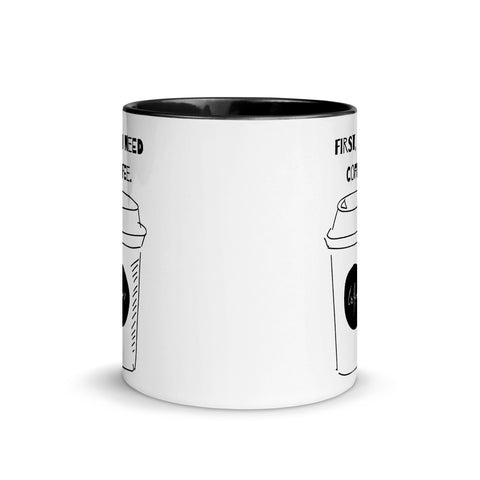 But First Coffee Mug with Black Color Inside