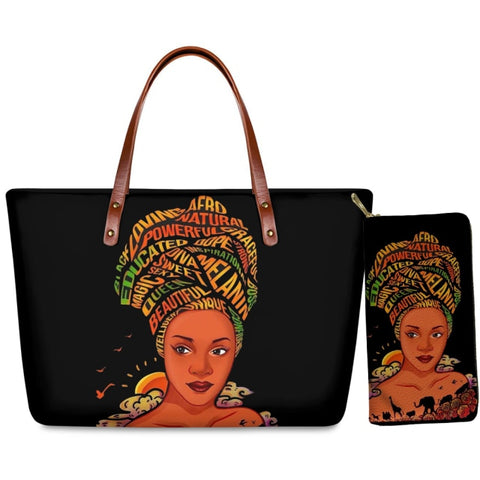 Printed Hand Bag & Purse - Woman In Turban