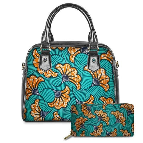 Handbag Wallet Set Floral Designs - Splendid