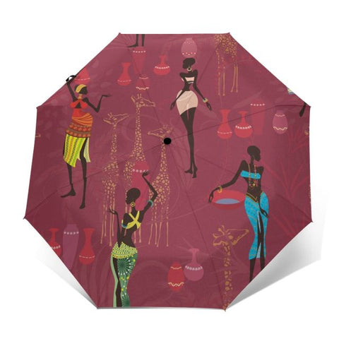 Automatic Three-folding Umbrella - Ladies