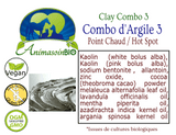 Combo Argile 3 - Parasite de Peau, Point de Chaleur, Infection de Peau / Clay combo 3 scabbies, hot spot , lesions, skin infection -P