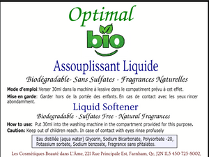 Assouplissant à Lessive / Laundry Softener - Optimal Bio