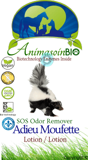 Lotion Adieu Mouffette  / SOS Odor Remover Lotion (Skunk) -P