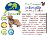 Lotion  les Indésirables - Chien / The Unwanted Lotion - Dog -P