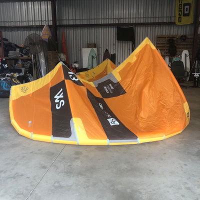 USED Eleveight WS 13.0 Yellow Kiteboarding Kite, 2020 - Left