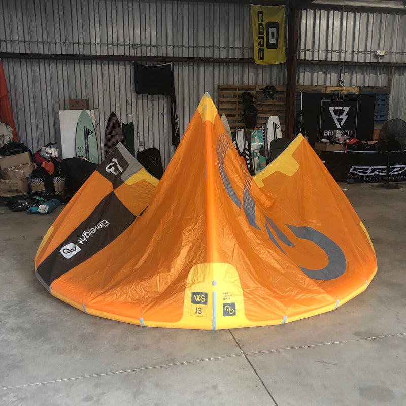 USED Eleveight WS 13.0 Yellow Kiteboarding Kite, 2020