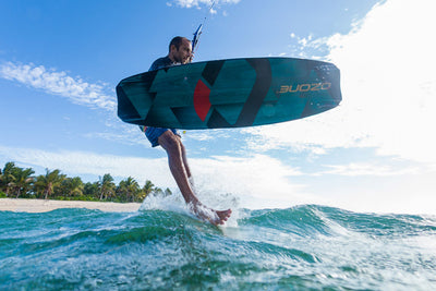 Ozone Code V2 Freeride Kiteboard-water-action