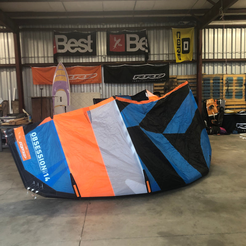 USED RRD OBSESSION MK11 14.0 Kiteboarding Kite, 2019 front