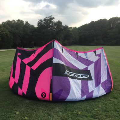 Used RRD Obession MK10 9.0 Kiteboarding Kite, 2018, Front