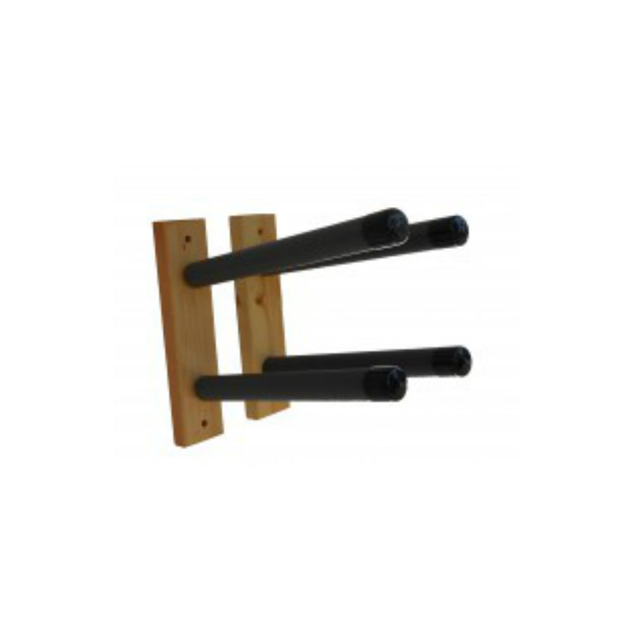 Paradise Double Wood Wall Surfboard Rack/Pair