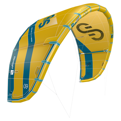 2022 Eleveight RS Kiteboarding Kite - Yellow
