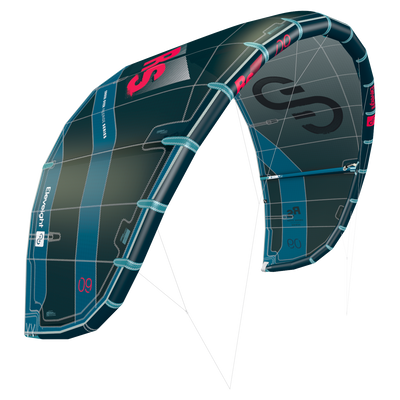 2022 Eleveight RS Kiteboarding Kite - Dark Green