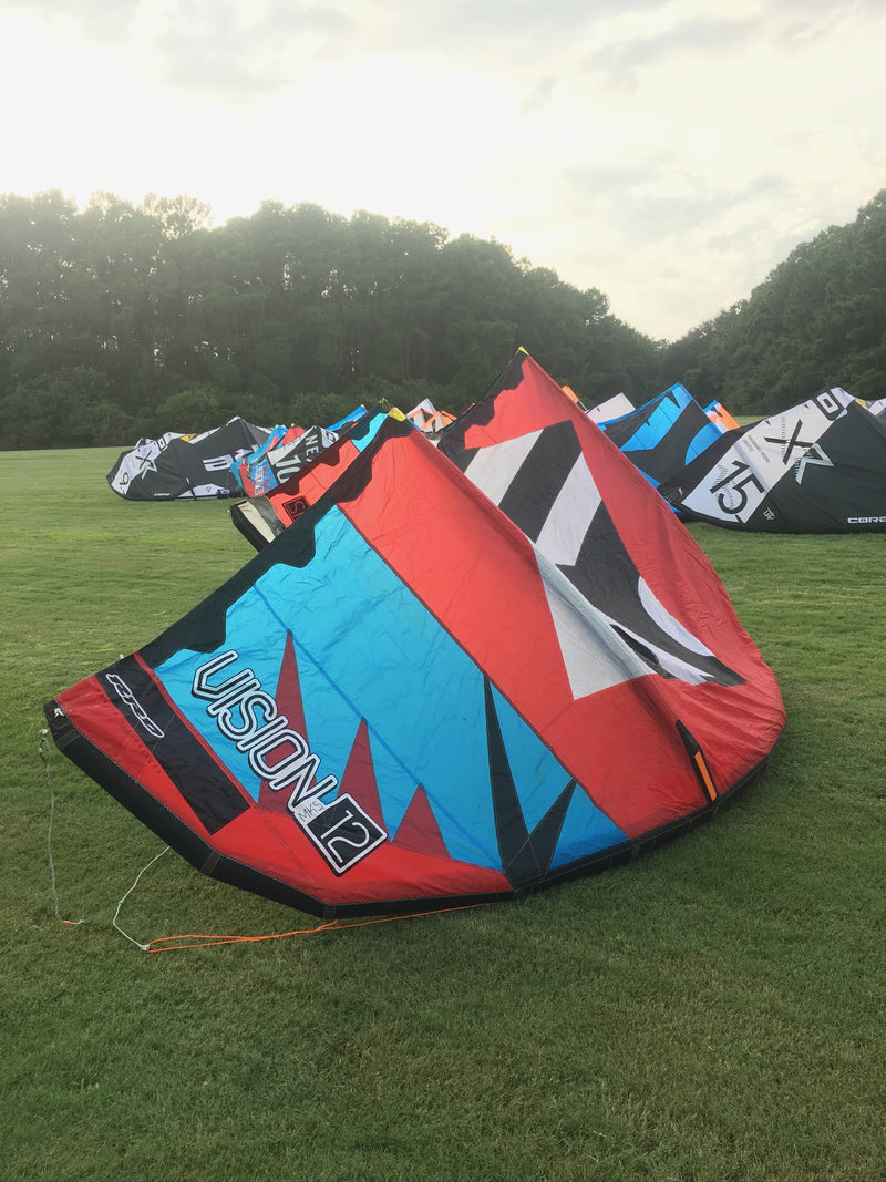 Used RRD Vision MK5 12.0 Kite - Cyan/Red Front