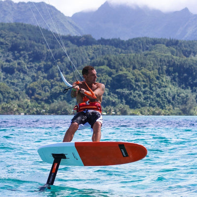 RRD H-Flight Hydrofoil 80cm Kiteboarding Foil and Dolphin in action