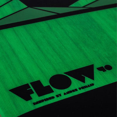 Tona Flow 2.0 Wakestyle Kiteboard (Board and fins only) - Green Top Close Up