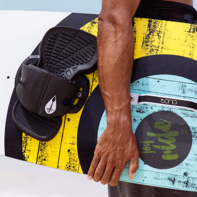 Tona Joy Ride Freestyle Kiteboard (complete) - Mango Yellow Graphics