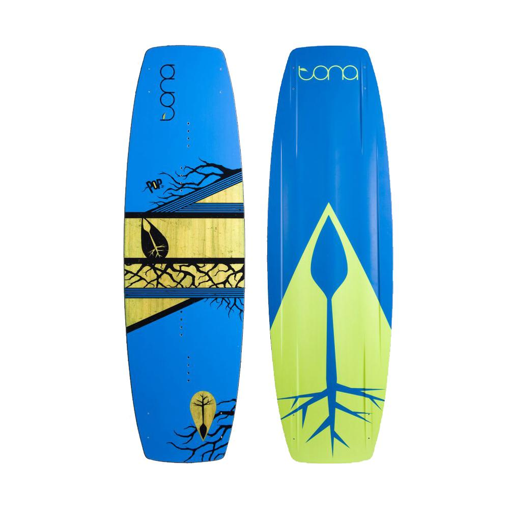 Tona Pop 1.0 Wakestyle Kiteboard Board and fins only - Psycho Citrus