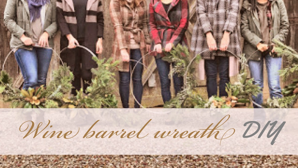 DIY Wine Barrel Wreath