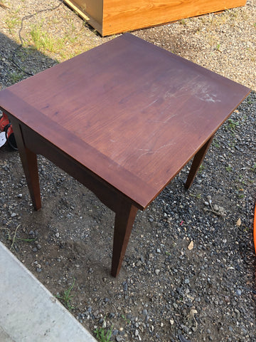 side table re finish
