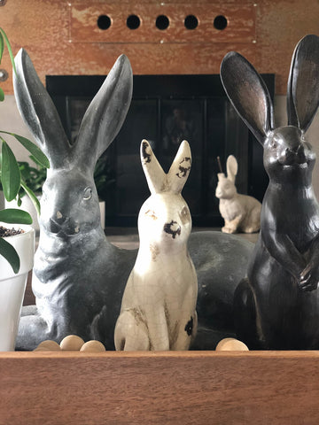 Enamel Bunny Decor