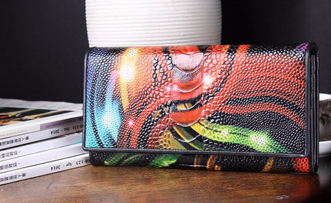 Gator-Touch Leather Clutch