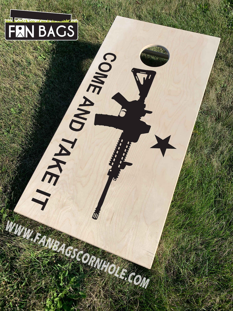 TEXAS COME AND TAKE IT CORNHOLE BOARDS