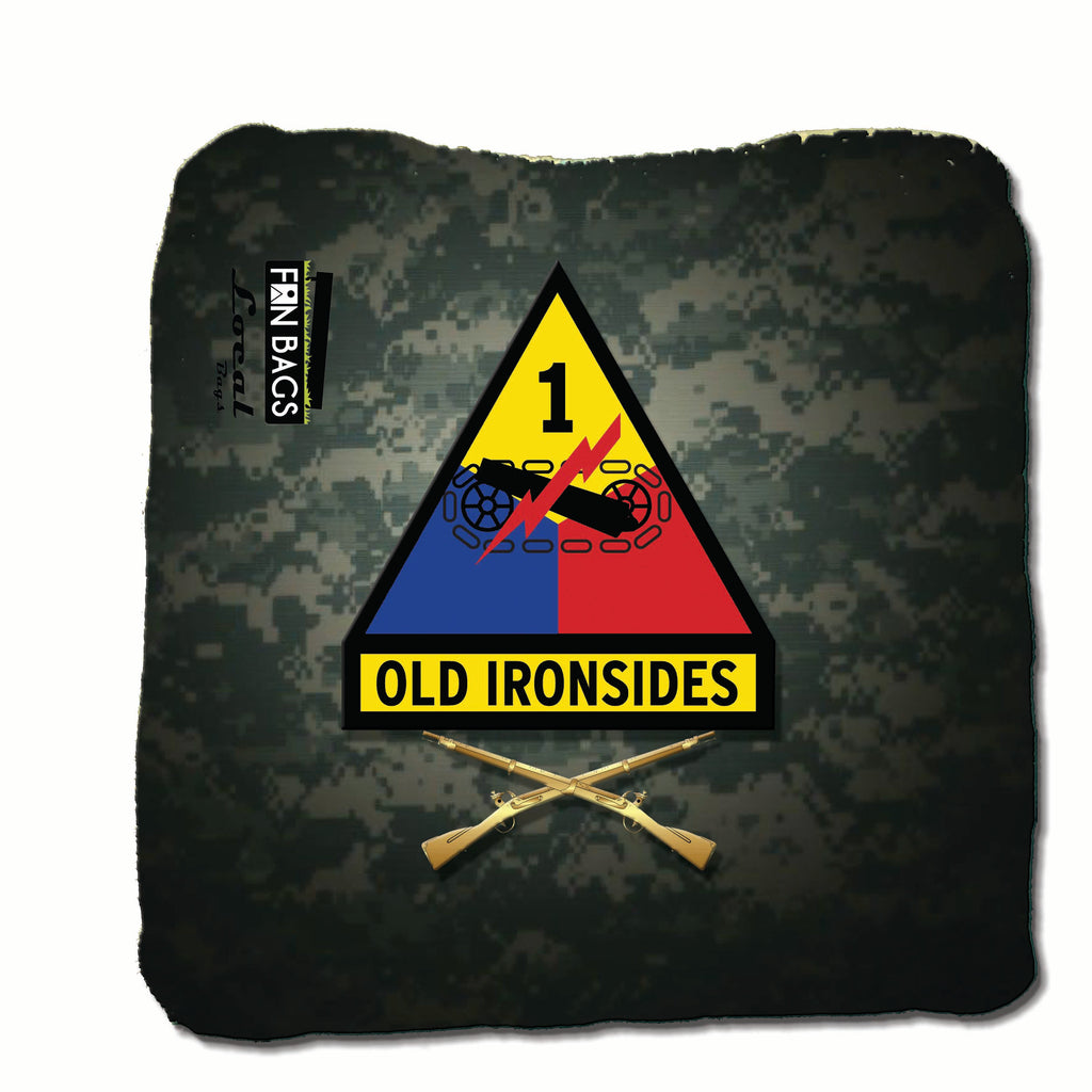 Army Old Iron Sides Patch Pro Bags (4 bags) - FanBags Cornhole